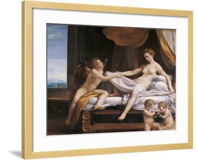 Jupiter and Dana-Correggio-Framed Giclee Print