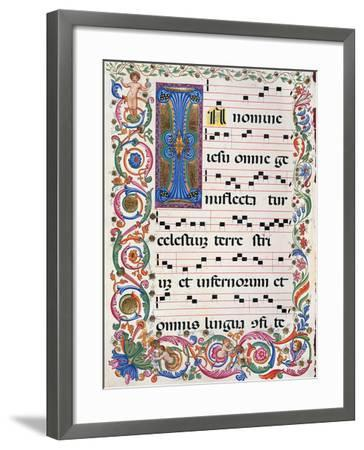 Proprio Dei Santi Gradual From the Feast of the Holy Name of Jesus--Framed Giclee Print