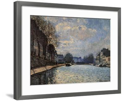 View of the Canal Saint Martin-Alfred Sisley-Framed Giclee Print