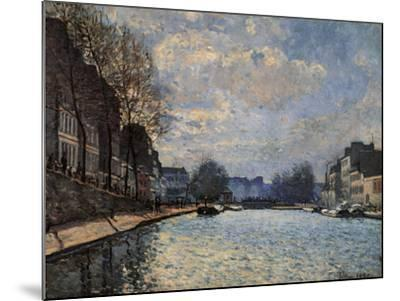 View of the Canal Saint Martin-Alfred Sisley-Mounted Giclee Print