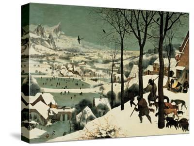 The Hunters in the Snow-Pieter Bruegel the Elder-Stretched Canvas Print
