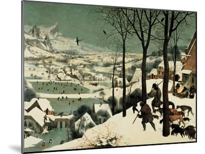 The Hunters in the Snow-Pieter Bruegel the Elder-Mounted Giclee Print