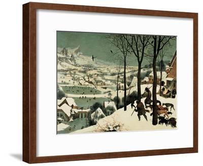 The Hunters in the Snow-Pieter Bruegel the Elder-Framed Giclee Print