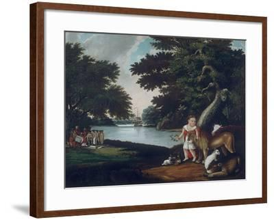 The Realm of Peace-Edward Hicks-Framed Giclee Print
