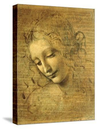 Head of a Young Woman La Scapigliata (the Lady of the Disheveled Hair)-Leonardo da Vinci-Stretched Canvas Print