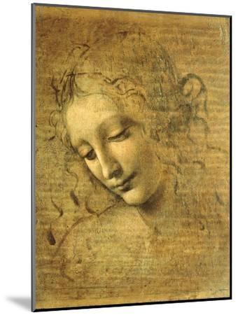 Head of a Young Woman La Scapigliata (the Lady of the Disheveled Hair)-Leonardo da Vinci-Mounted Premium Giclee Print