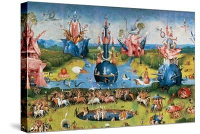 Bodies of Christian Martyrs Brought by the Angels-Hieronymus Bosch-Stretched Canvas Print