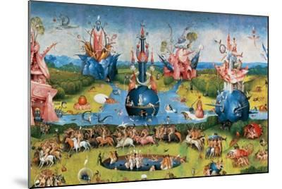 Bodies of Christian Martyrs Brought by the Angels-Hieronymus Bosch-Mounted Giclee Print