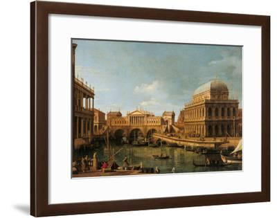 Capriccio with Palladian Buildings-Canaletto-Framed Giclee Print