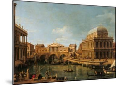 Capriccio with Palladian Buildings-Canaletto-Mounted Giclee Print