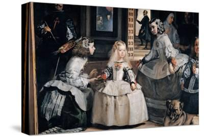 The Family of Philip IV (Las Meninas)-Diego Velazquez-Stretched Canvas Print