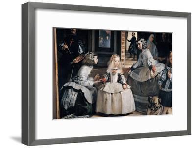 The Family of Philip IV (Las Meninas)-Diego Velazquez-Framed Giclee Print