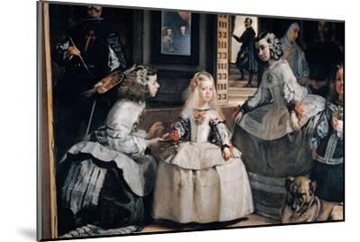 The Family of Philip IV (Las Meninas)-Diego Velazquez-Mounted Giclee Print
