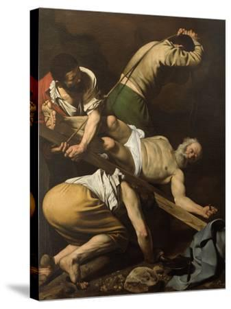 Martyrdom of St Peter-Caravaggio-Stretched Canvas Print