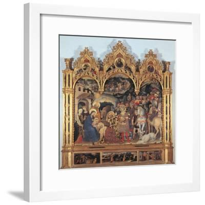 Altarpiece with the Adoration of the Magi-Gentile di Niccol (Fabriano)-Framed Giclee Print