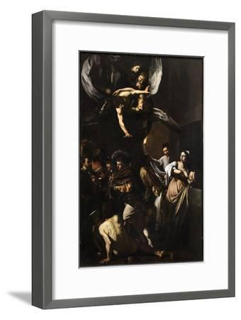 Seven Works of Mercy-Caravaggio-Framed Giclee Print