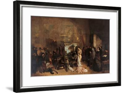 The Artists Studio-Gustave Courbet-Framed Giclee Print