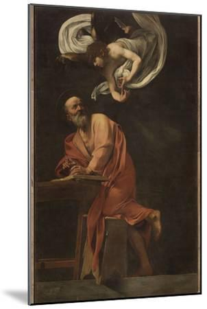 St. Matthew and the Angel-Caravaggio-Mounted Giclee Print