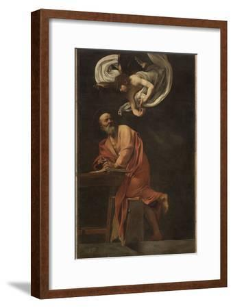 St. Matthew and the Angel-Caravaggio-Framed Giclee Print