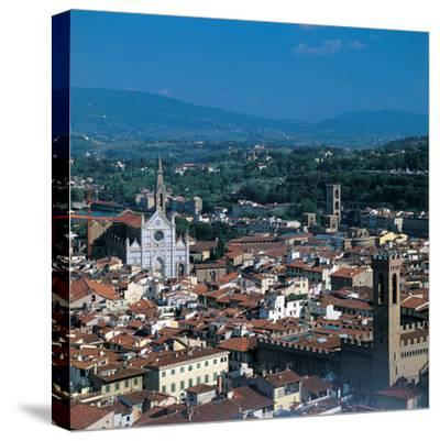 View of the District of Santa Croce, Florence--Stretched Canvas Print