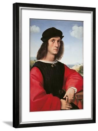 Portrait of Agnolo Doni-Raffaello Sanzio-Framed Giclee Print