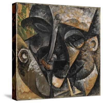 Dynamism of a Man's Head or Composition of a Woman's Head (Dinamismo Di Una Testa Di Uomo)-Umberto Boccioni-Stretched Canvas Print