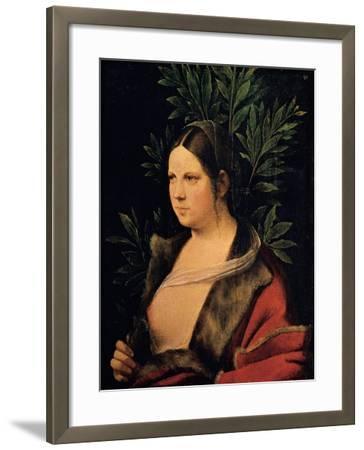 Portrait of a Young Woman (Laura)-Giorgione da Castelfranco-Framed Giclee Print