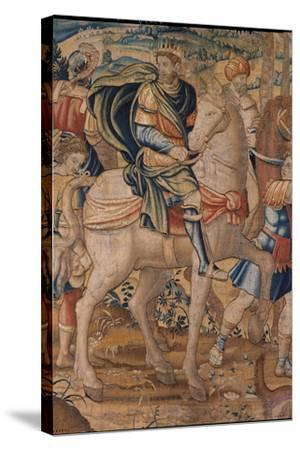 Elijah and Elisha's Stories. Elijah Predicts God's Punishment to Ahab- Bruxelles Manifacture-Stretched Canvas Print