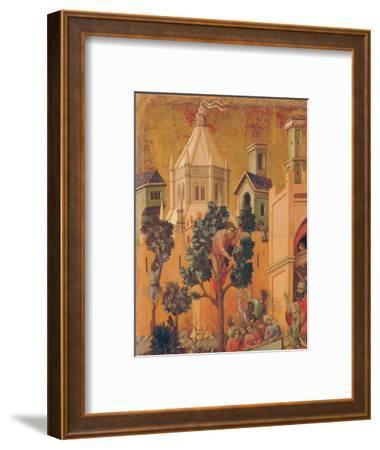 The Maestà, Front, by Duccio Di Buoninsegna, 1308 - 1311, 14th Century, Tempera on Panel-Duccio Di buoninsegna-Framed Giclee Print