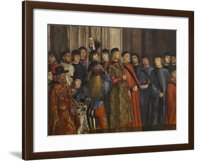Miracle of the Relic of the True Cross at the Rialto Bridge Or the Healing of the Possessed Man-Vittore Carpaccio-Framed Giclee Print