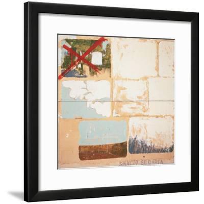 Enamel on Paper-Mario Schifano-Framed Giclee Print