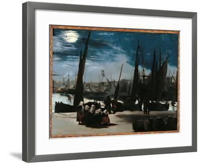 Moonlight Over the Port of Boulogne-Edouard Manet-Framed Giclee Print