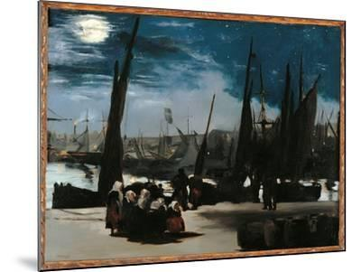Moonlight Over the Port of Boulogne-Edouard Manet-Mounted Giclee Print