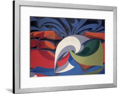 Forms Shout 'Viva L'Italia!'-Balla Giacomo-Framed Giclee Print