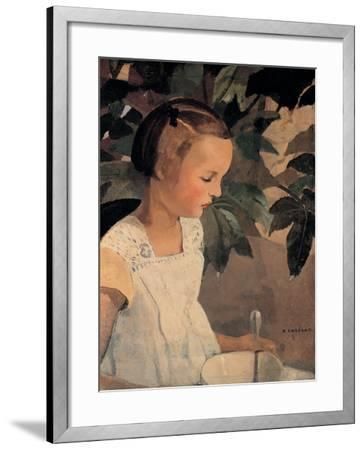 Child with a Bowl-Casorati Felice-Framed Premium Giclee Print