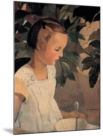 Child with a Bowl-Casorati Felice-Mounted Premium Giclee Print