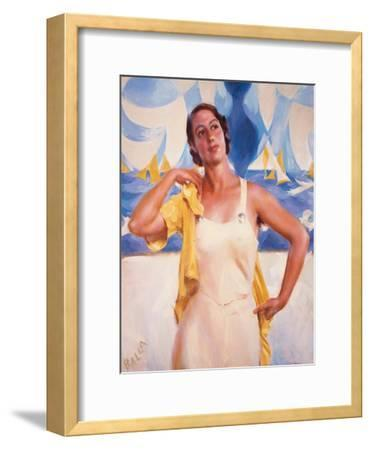 Daughter of the Sun-Giacomo Balla-Framed Giclee Print