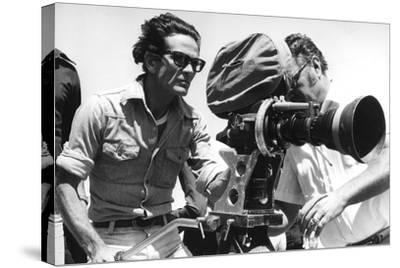 Pier Paolo Pasolini with a Camera--Stretched Canvas Print