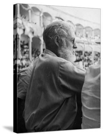 Ernest Hemingway at a Bullfight--Stretched Canvas Print