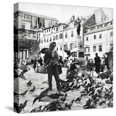 Dubrovnik's Marketplace--Stretched Canvas Print