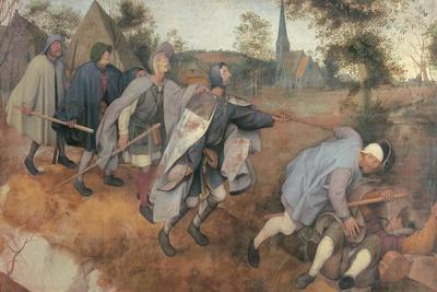 Parable of the Blind-Pieter Bruegel the Elder-Framed Art Print