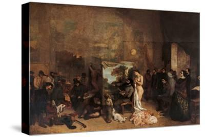 Artist's Studio-Gustave Courbet-Stretched Canvas Print