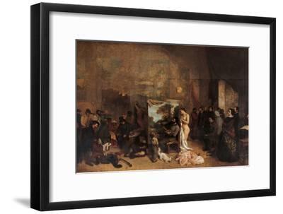 Artist's Studio-Gustave Courbet-Framed Premium Giclee Print
