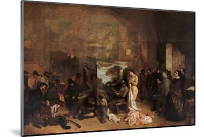 Artist's Studio-Gustave Courbet-Mounted Premium Giclee Print