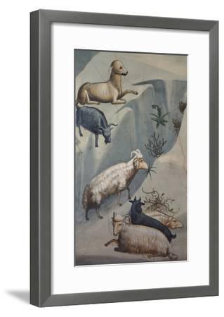 Dream of Joachim, Sheep-Giotto di Bondone-Framed Art Print