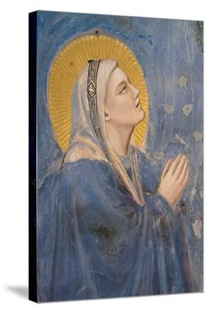 Passion, The Ascension, Detail of Virgin Mary-Giotto di Bondone-Stretched Canvas Print