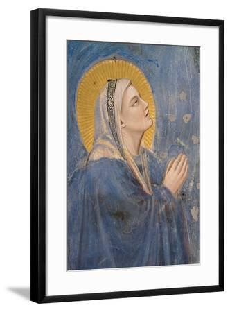 Passion, The Ascension, Detail of Virgin Mary-Giotto di Bondone-Framed Art Print