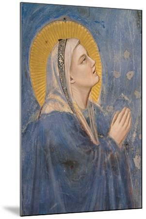 Passion, The Ascension, Detail of Virgin Mary-Giotto di Bondone-Mounted Art Print