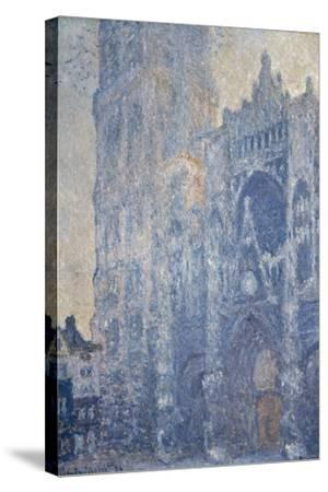 Rouen Cathedral (Morning Effect)-Claude Monet-Stretched Canvas Print