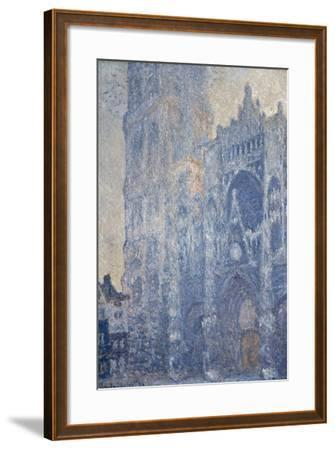 Rouen Cathedral (Morning Effect)-Claude Monet-Framed Art Print